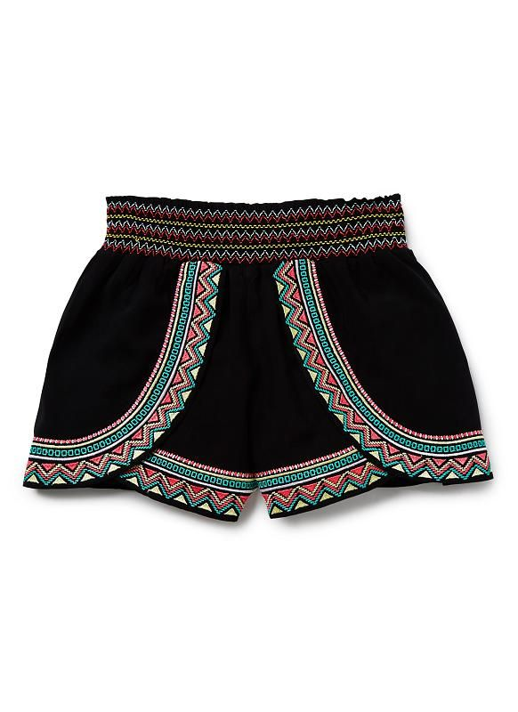 Teen Girls Shorts | Embroidered Short | Seed Heritage