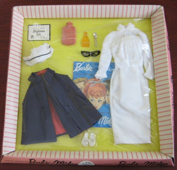 Image detail for -This is Barbies Registered Nurse fashion available from 1961-1964. It ...