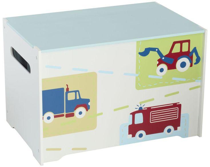 Deze stevige speelgoedkist van MDF is ideaal voor het opbergen van al het geliefde speelgoed en de spelletjes van je zoon. Perfect voor in de slaapkamer of speelkamer. Vervaardigd van het sterke materiaal MDF en voorzien van een eenvoudig montagesysteem en bedrukt met afbeeldingen van hoge kwaliteit van allerlei voertuigen. Deze praktische kist van hoge kwaliteit is een absolute aanrader voor je kleintje.   Afmeting: 630x50x425 mm - Opbergbox Voertuigen: 40x60x40 cm