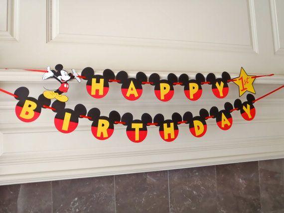 Kit de bricolage anniversaire Mickey bannière par FeistyFarmersWife