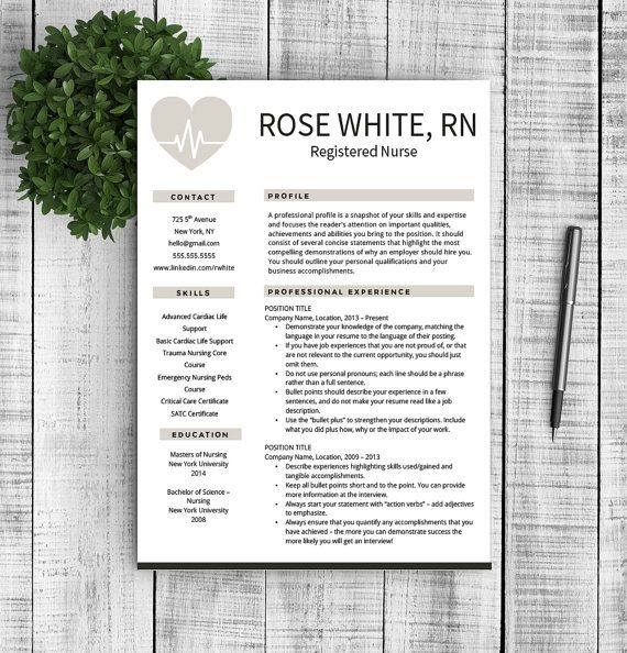 nurse resume template free cover letter by professionalresumeco