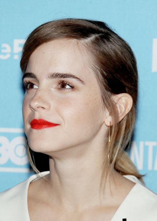 Emma Watson attends the premiere of the City Of Joy documentary on Friday (November 11) at SVA Theater in New York City.