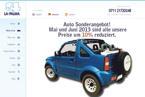 Auto Sonderangebot!   Mai und Juni 2013 sind alle unsere Preise um 10% reduziert. http://www.la-palma24.com #mietwagen #rentacar #isladelapalma #kanaren #kanarischeInseln