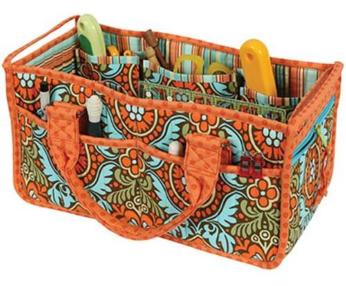 Use this sturdy, over-size caddy to organize and hold all your supplies.