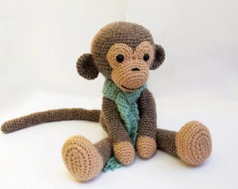 Muster: Monkey Amigurumi Affe-Pattern Crochet von Anatillea