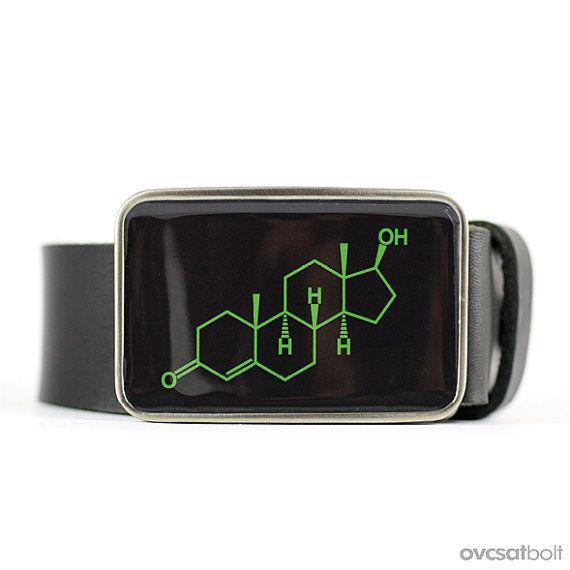 Testosterone Belt Buckle Mens belt buckle Molecule by myBeltBuckle