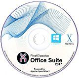 Office Suite 2017 Home Student Professional & Business - Word & Excel Compatible Software Powered by Apache OpenOfficeTM for PC Microsoft Windows 10 8.1 8 7 Vista XP 32 64 Bit & Mac OS X - Full Program with Free Updates! by PixelClassics Platform: Windows XP /  10 /  7 /  Vista /  8, Mac OS X, Linux (357)Buy new:   £6.99 (Visit the Bestsellers in Software list for authoritative information on this product's current rank.) Amazon.co.uk: Bestsellers in Software...