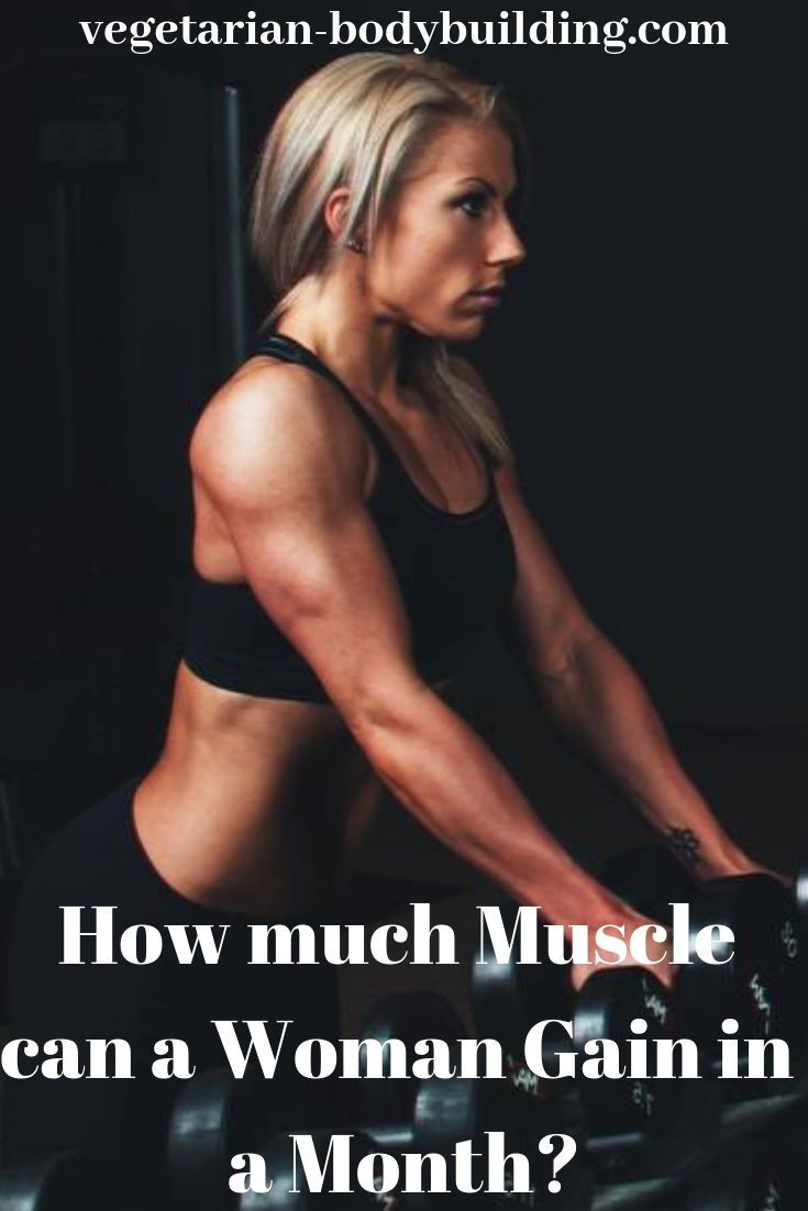 How much muscle weight can you gain in a month