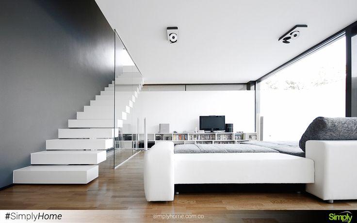 Si amplitud es lo que buscas, el blanco es tu solución. #SimplyHome #SimplyHomeCol #Simply #Home #Decoracion