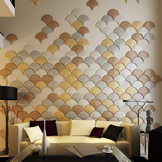 Art3d 12 Pieces 3d Faux Leather Tiles Decorative Wall Panel