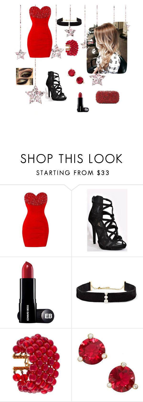 """Red Prom Night"" by ruthiehegge ❤ liked on Polyvore featuring Anissa Kermiche, Chanel, Kate Spade and Alice + Olivia"
