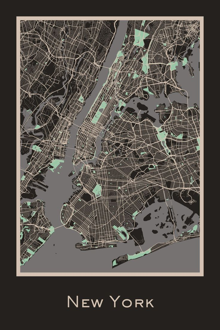 New York USA almost black