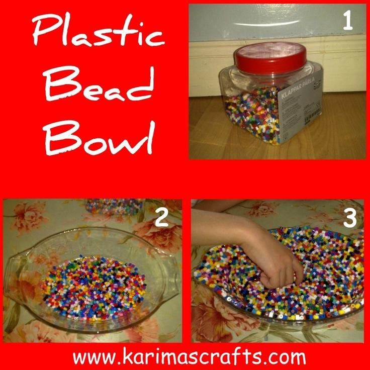 Karima's Crafts: Plastic Bead Bowl Tutorial