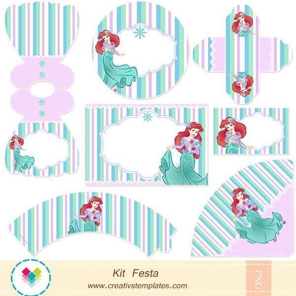 kit festa pequena sereia - Pesquisa Google