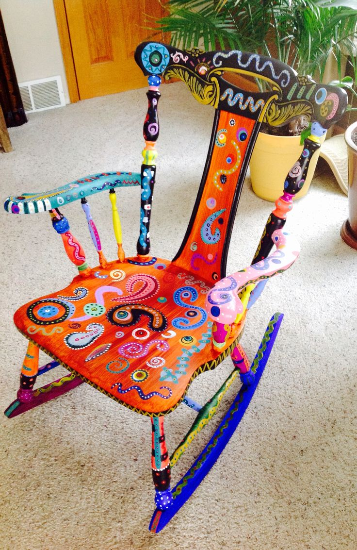Painted chairs pinterest - Hand Painted Whimsical Chair This Was A Super Fun Chair To Paint Love