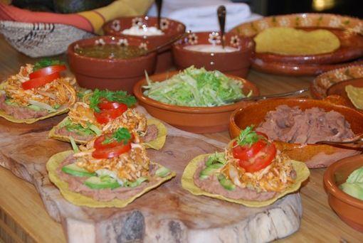 chicken tinga tostadas » Pati's Mexican Table