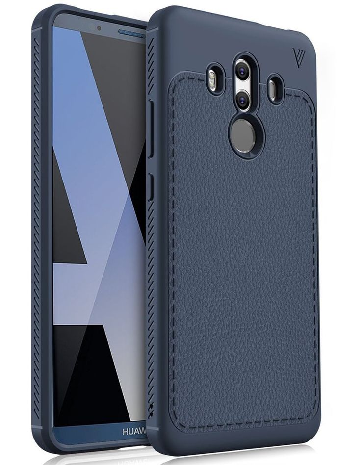Huawei Mate 10 Pro Case Slim Soft Flexible TPU Protective Back Cover Navy Grip #HuaweiMate10Pro