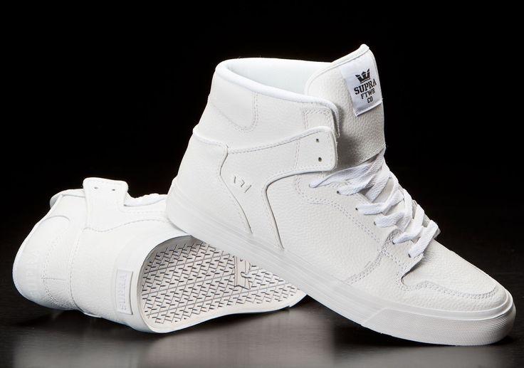 Supra Vaider White Tumbled Leather/White | wishlist | Pinterest