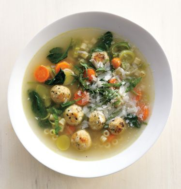 Find the recipe for Spring Minestrone with Chicken Meatballs and other spinach recipes at Epicurious.com