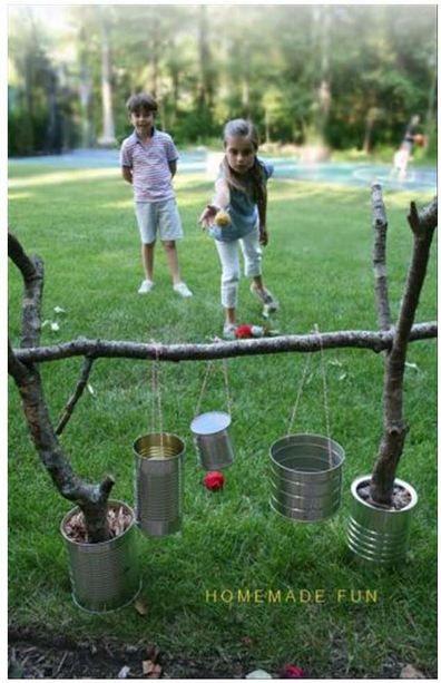 outdoor games, homemade