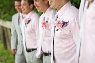#groomsmen - pink wedding