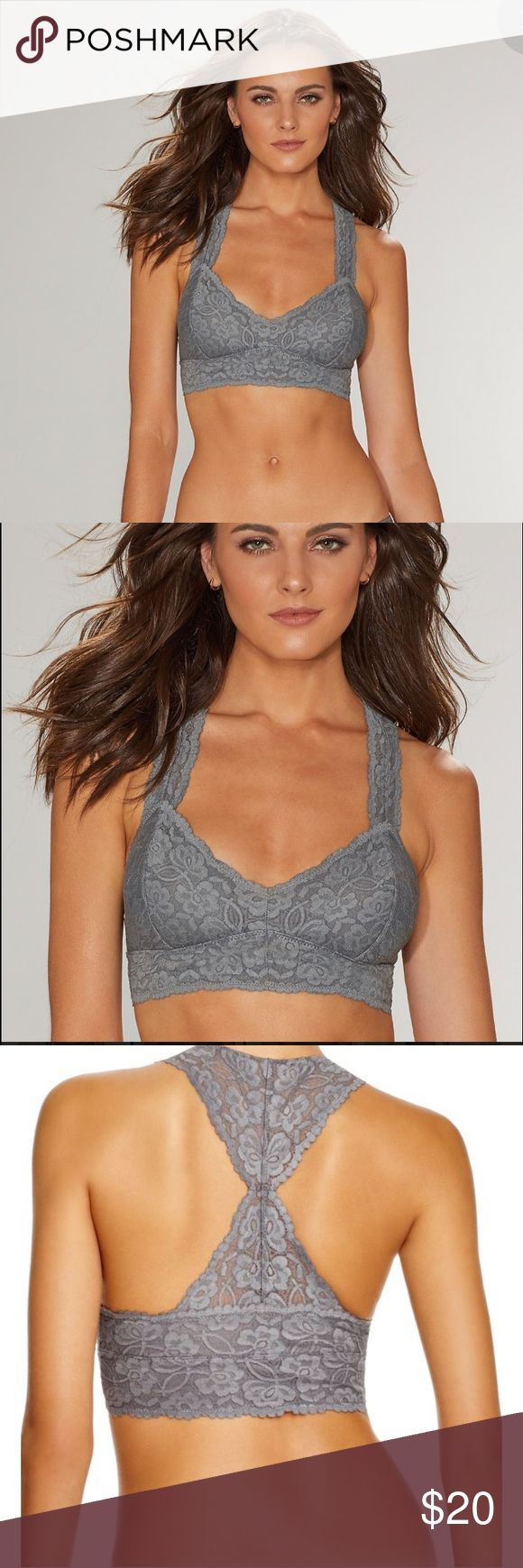 Free People, Racerback, Sexy Lace Bralette BNWOT💋 Free People, Gray Lace Blooming Bralette, Will make you feel like the sexiest girl in the world! Plunging V-neckline & seamed cups. Racerback straps meet with an elastic bottom band. Cups are lined. Self: 93% Nylon, 7% Spandex. Lining: 90% Nylon, 10% Spandex. Has a bit of PushUp. Size S Could fit M depending on measurements. Literally Wore ONCE to try on. So truly it's Brand New. 🙌💥🖤                                            Sleeveless…