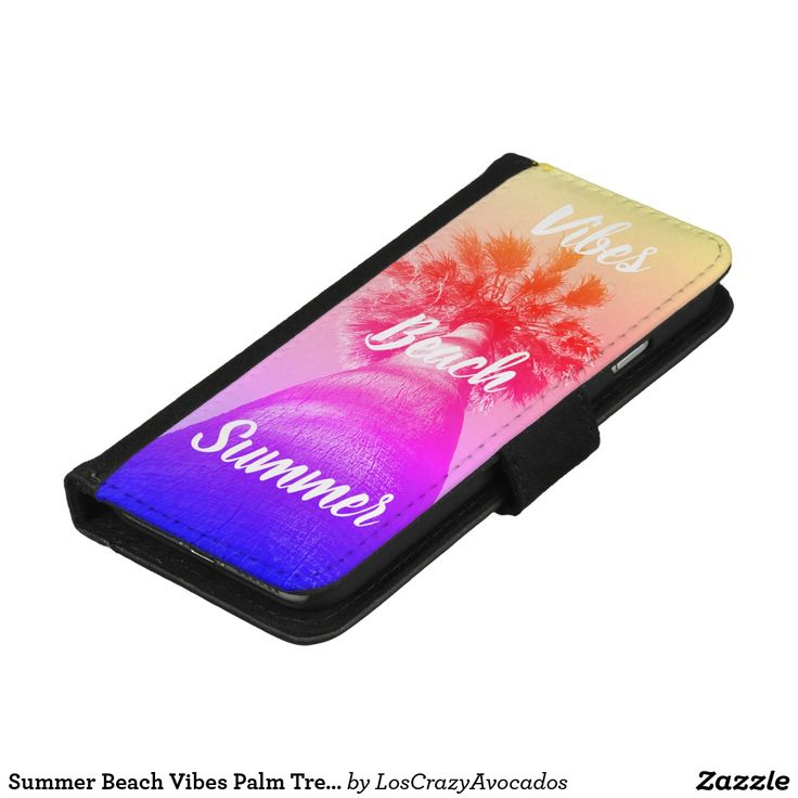 Summer Beach Vibes Palm Tree IPhone Wallet Case