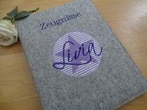 ♥ Zeugnismappe / Ordner ♥ lila ♥