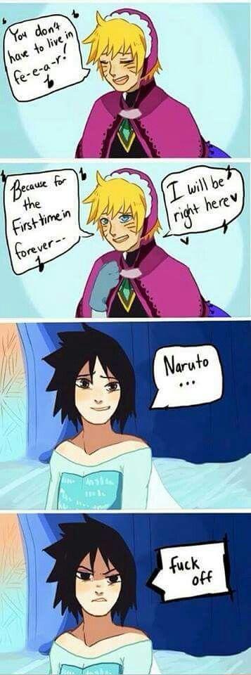 Elsa(suke) and Anna(ruto), Naruto Frozen style.