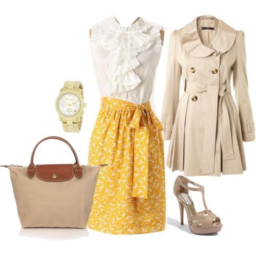 yellow and cream.  I LOVE the skirt