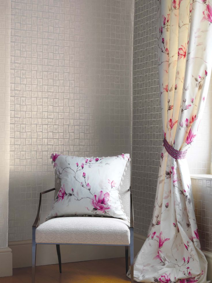 Magnolia Garden collection by Nina Campbell - available from Rodgers of York #interiors #fabric
