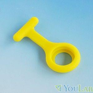 Housse silicone de couleur jaune pour montre infirmière