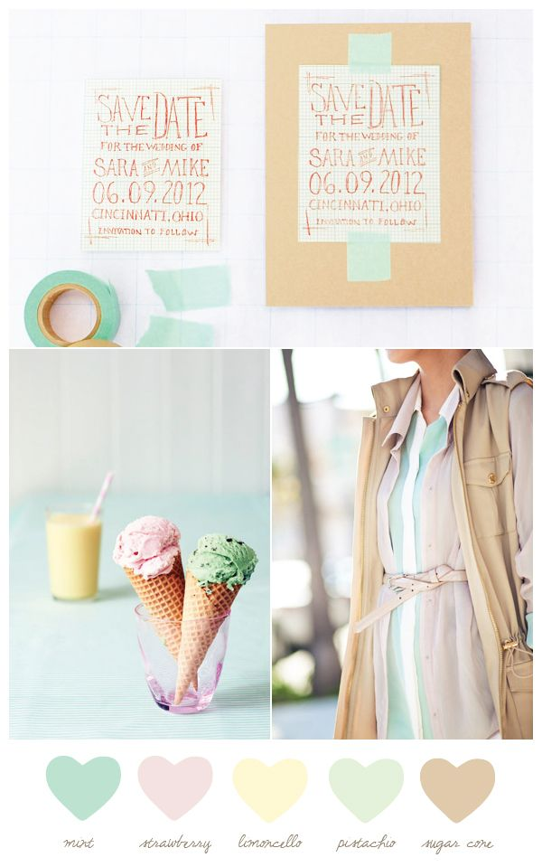 Party Palette: Mint + Sugar Cone - The Sweetest Occasion