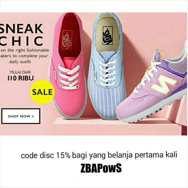 Sneakers Collection at  http://www.zalora.co.id/women/all-products/?cmpgn_one=sneak-chic&noWT=1   Pembelajaan pertama dapatkan diskon 15% [ kode diskon lihat di gambar ]
