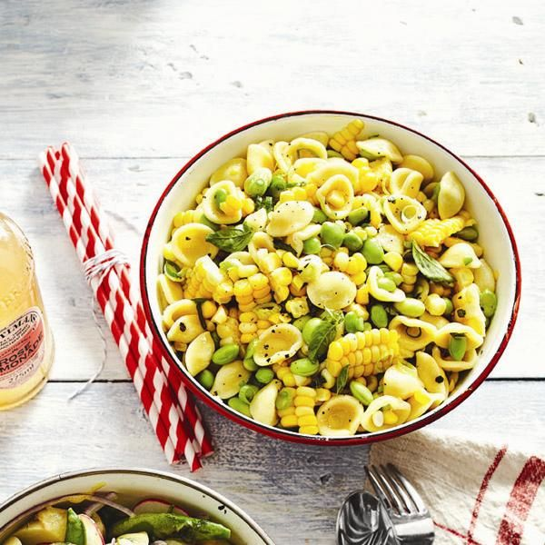 Summer corn-pasta salad | Seasonal Side Dishes | Pinterest