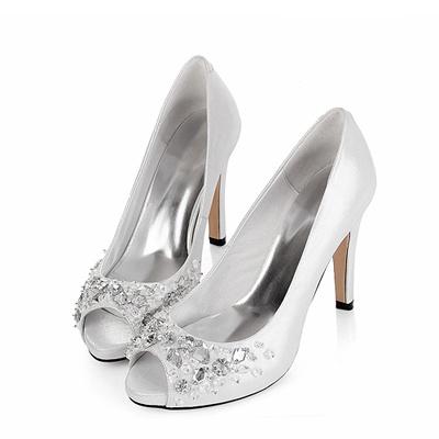 Lederen Hakken schoenen met prachtige kristallen (XGG083) - Vowstory