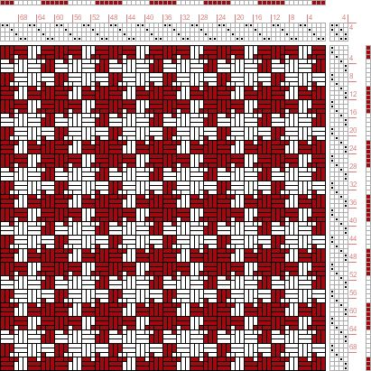 Hand Weaving Draft: Page 159, Figure 11, Textile Design and Color, William Watson, Longmans, Green  Co., 4S, 4T - Handweaving.net Hand Weaving and Draft Archive