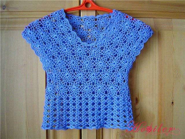 Bayanlar için yazlık örgü bluz örnekleri