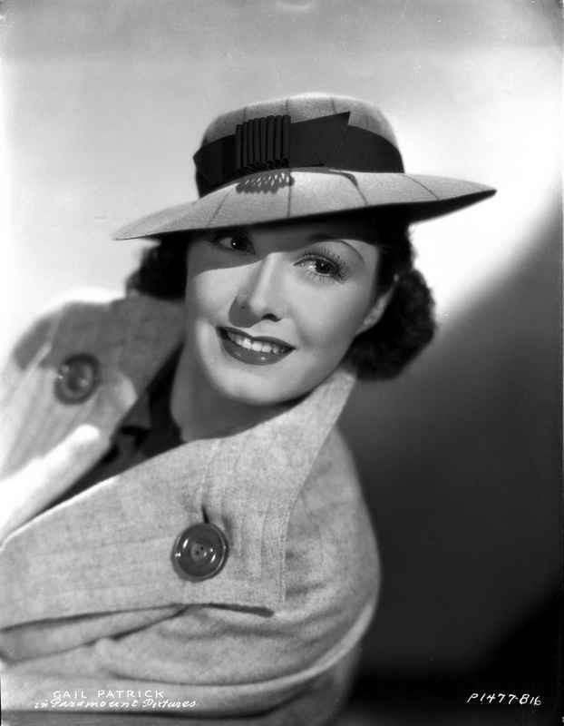 Gail Patrick on a Coat with Hat and smiling Portrait High Quality Phot – Movie Star News