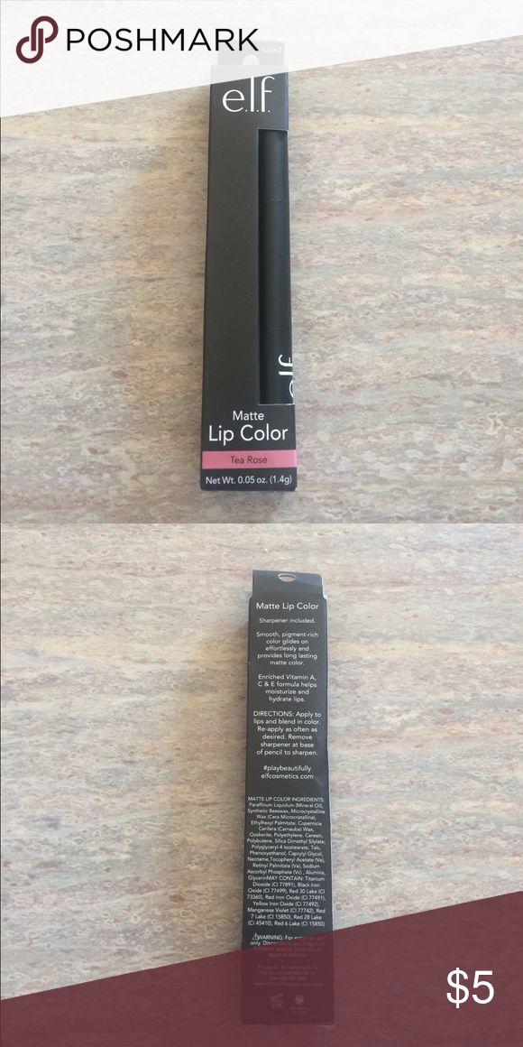ELF Matte Tea Rose Lip Color New in package 0.05oz tea rose colored lip color from ELF ELF Makeup Lip Balm & Gloss