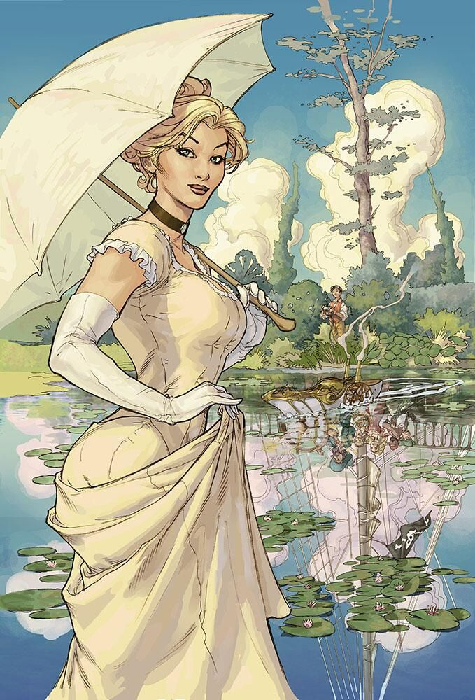 Steampunk_T : Cover by Terry Dodson - look at the reflection!