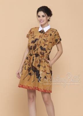 CA.10838 Elita Collar Batik Dress Catalog