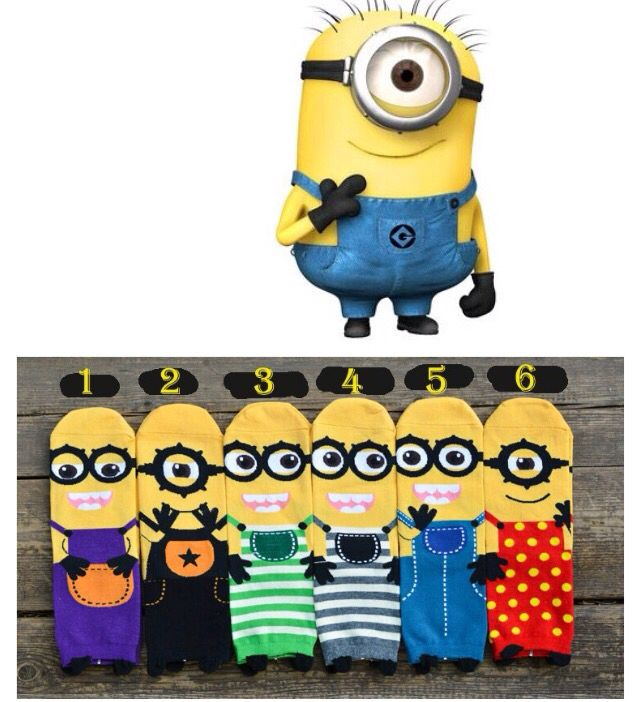 Minions socks Check them out on my page  www.facebook.com/littletoddlersoles