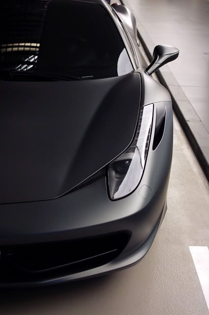 Ferrari 458 Italia in matte grey- i think i just form my first physical attraction to an inanimate object...drool.