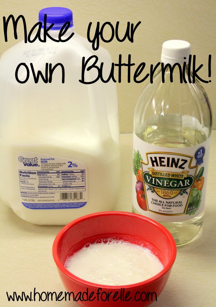 Make Your Own Buttermilk. Out of buttermilk? No worries, you can make your own at home! It only calls for two ingredients and a few minutes, and you're set!