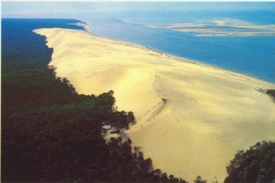 The Great Dune of Pyla, France. Happens to be the tallest sand dune in Europe.