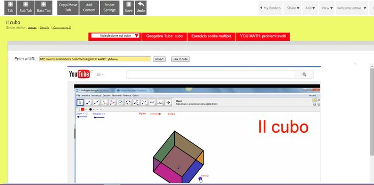 Il cubo: videolezione ed esercizi http://www.livebinders.com/play/play?id=1479593