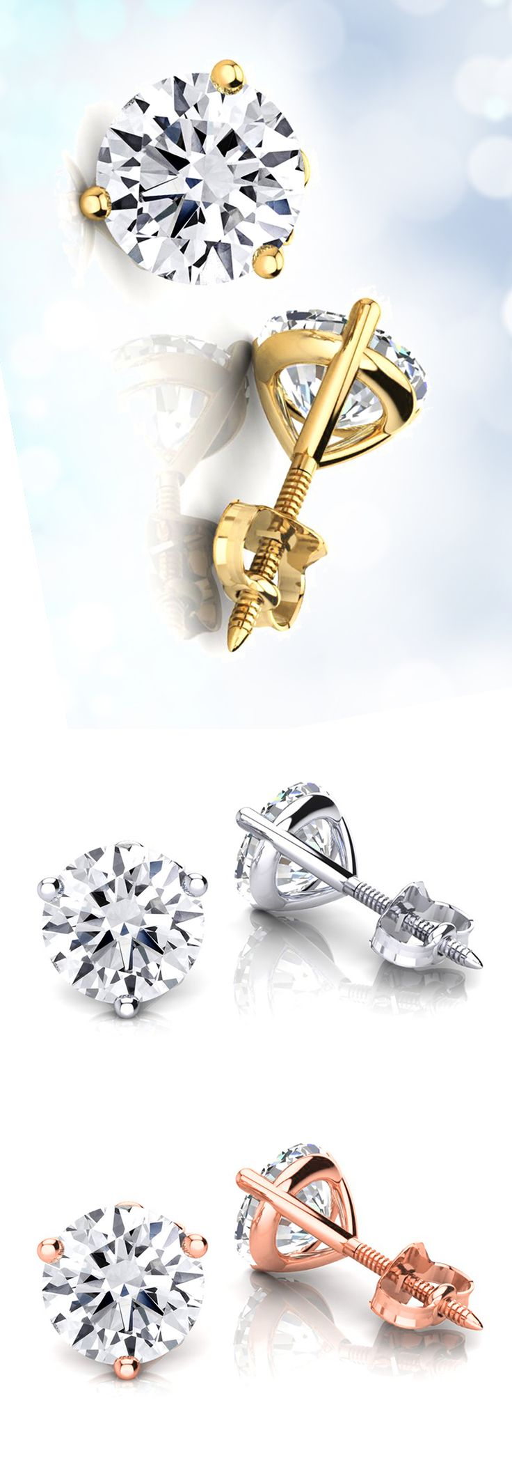 For Timeless Elegance, Diamond Solitaire Earrings Are The Way To Go They  Are Not