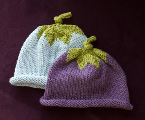 knitted baby hat cute berry hat