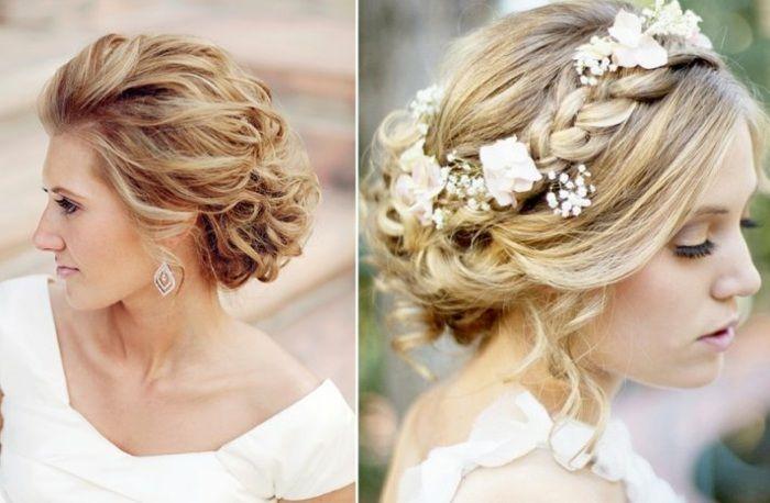 Haarwellen in Dutt hochgesteckt frisieren  Frisuren  Pinterest  Dekoration und Hochzeit